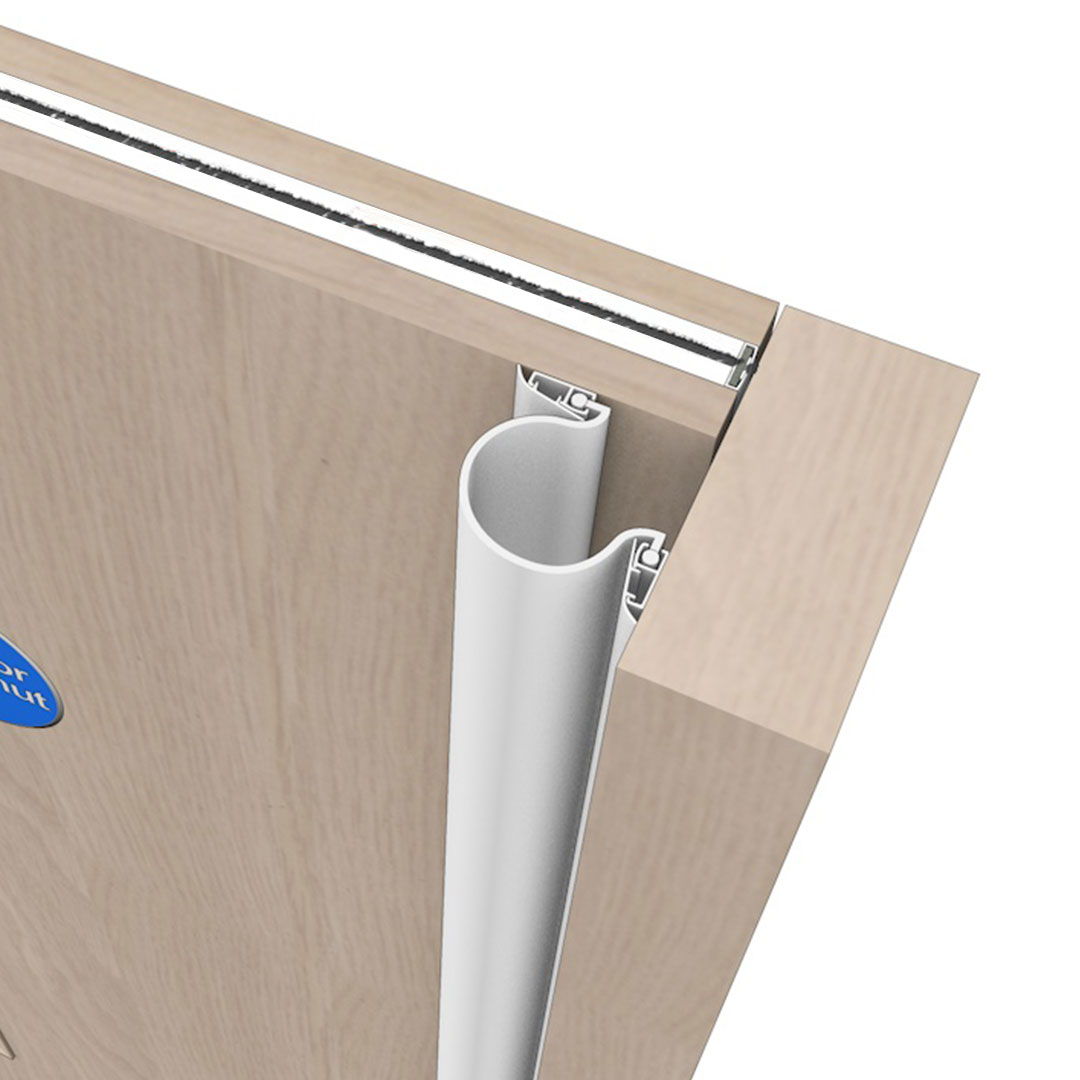 A Front And Rear Finger Door Guard Called Finger Guardian Front and Rear White Colour Product