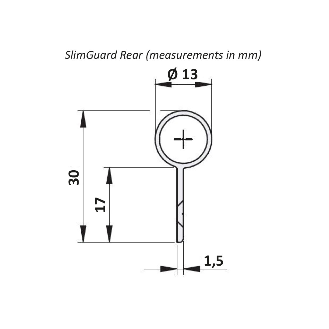 SlimGuard Rear Product Measurements