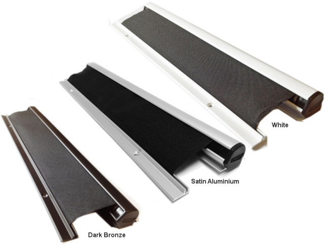 Standard anodised finishes for Protecta door finger guards.